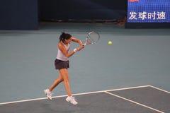 Dinara Safina (RUS), tennis player. Dinara Safina (RUS) at the China Open Tennis Tournament 2009 Royalty Free Stock Images