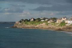 Dinard, Brittany. Dinard panorama, famous holiday destination in Brittany Royalty Free Stock Photos