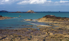 Dinard Coast. The coast off Dinard with multiple islands, near Saint Malo, France Stock Image
