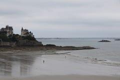 Dinard. View of the beach of Dinard, France Royalty Free Stock Photos