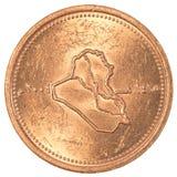 25 dinares iraquíes de moneda Imagen de archivo