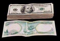 Dinares iraquianos Imagem de Stock