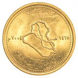 50 dinari iracheni di moneta Immagine Stock