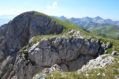 Dinaric Альпы в Черногории Стоковая Фотография RF