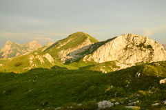 Dinaric-Alpen in Montenegro Lizenzfreie Stockfotos