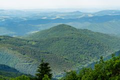 Forest-covered Dinaric Alps in Central Serbia Royalty Free Stock Image