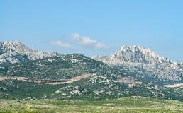 Dinaric fjällängar i Kroatien Royaltyfri Bild