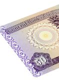 dinars femtio irakier Royaltyfri Bild