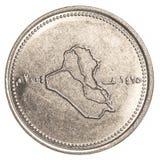 100 dinars irakiens de pièce de monnaie Photos libres de droits