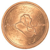 25 dinars irakiens de pièce de monnaie Image stock