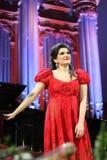 Dinaru Aliyeva piosenkarz. Muzyka klasyczna koncert w Moskwa conserv Zdjęcia Stock