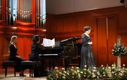 Dinaru Aliyeva piosenkarz. Muzyka klasyczna koncert w Moskwa conserv Obraz Royalty Free