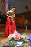 Dinaru Aliyeva piosenkarz. Muzyka klasyczna koncert w Moskwa conserv Fotografia Royalty Free