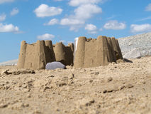 Dinas Dinlle Sand Castles Stock Image