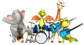 Dinasaur,Dragon,Giraffe,Raccoon and Elephant collection with pro Stock Photography