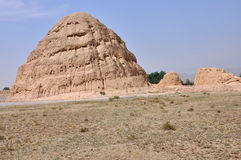 Túmulos imperiais de Xia ocidental Fotografia de Stock Royalty Free