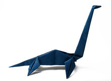Dinazavr fabriqué à la main d'origami Photographie stock libre de droits