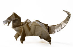 Dinazavr fabriqué à la main d'origami Photos libres de droits