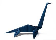 Dinazavr fatto a mano di origami Fotografia Stock Libera da Diritti