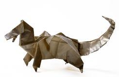 Dinazavr fatto a mano di origami Fotografie Stock Libere da Diritti