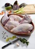 Dinde crue prête à cuisiner Photographie stock