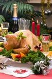 Dinde de Noël sur la table de vacances Image libre de droits