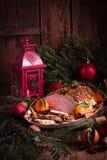 Dinde de rôti de Noël photos stock