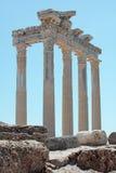 dinde latérale de temple d'Apollo photographie stock libre de droits