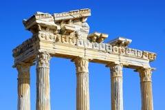dinde latérale de temple d'Apollo Photos libres de droits
