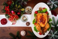 Dinde ou poulet cuite au four images libres de droits