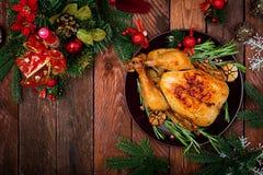 Dinde ou poulet cuite au four photographie stock libre de droits
