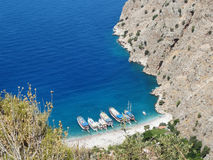 Dinde profonde de fethiye de gorge de Butterfly Valley Photo libre de droits