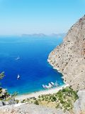 Dinde profonde de fethiye de gorge de Butterfly Valley Photos stock