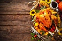 Dinde rôtie de thanksgiving Photographie stock libre de droits