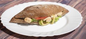 Dinde saine de petit morceau de sandwitch photo libre de droits