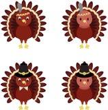 Dindes de thanksgiving Images libres de droits