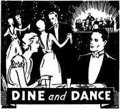 Dine And Dance illustration stock