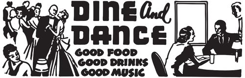 Dine And Dance 5 illustration stock