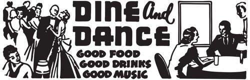 Dine And Dance 5 stock illustratie