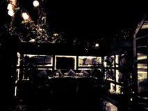 Dineer in dark royalty-vrije stock foto