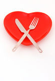 Dineer with heart Stock Photo