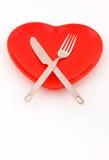 Dineer met hart stock foto