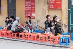 Diner à Hanoï Image stock