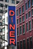 Diner. Sign for a city diner royalty free stock photos