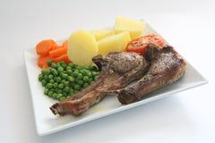 Diner 2 van lamskoteletten Stock Fotografie