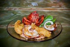 Diner 3 van de zeekreeft Manieren Stock Afbeeldingen
