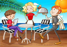 Diner illustration stock