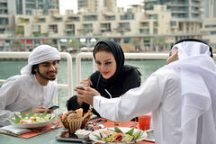 Diner arabe de famille d'Emirati Photo libre de droits