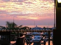 Diner au coucher du soleil Image libre de droits