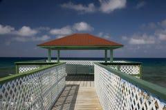 Diner au-dessus des Caraïbe Image libre de droits